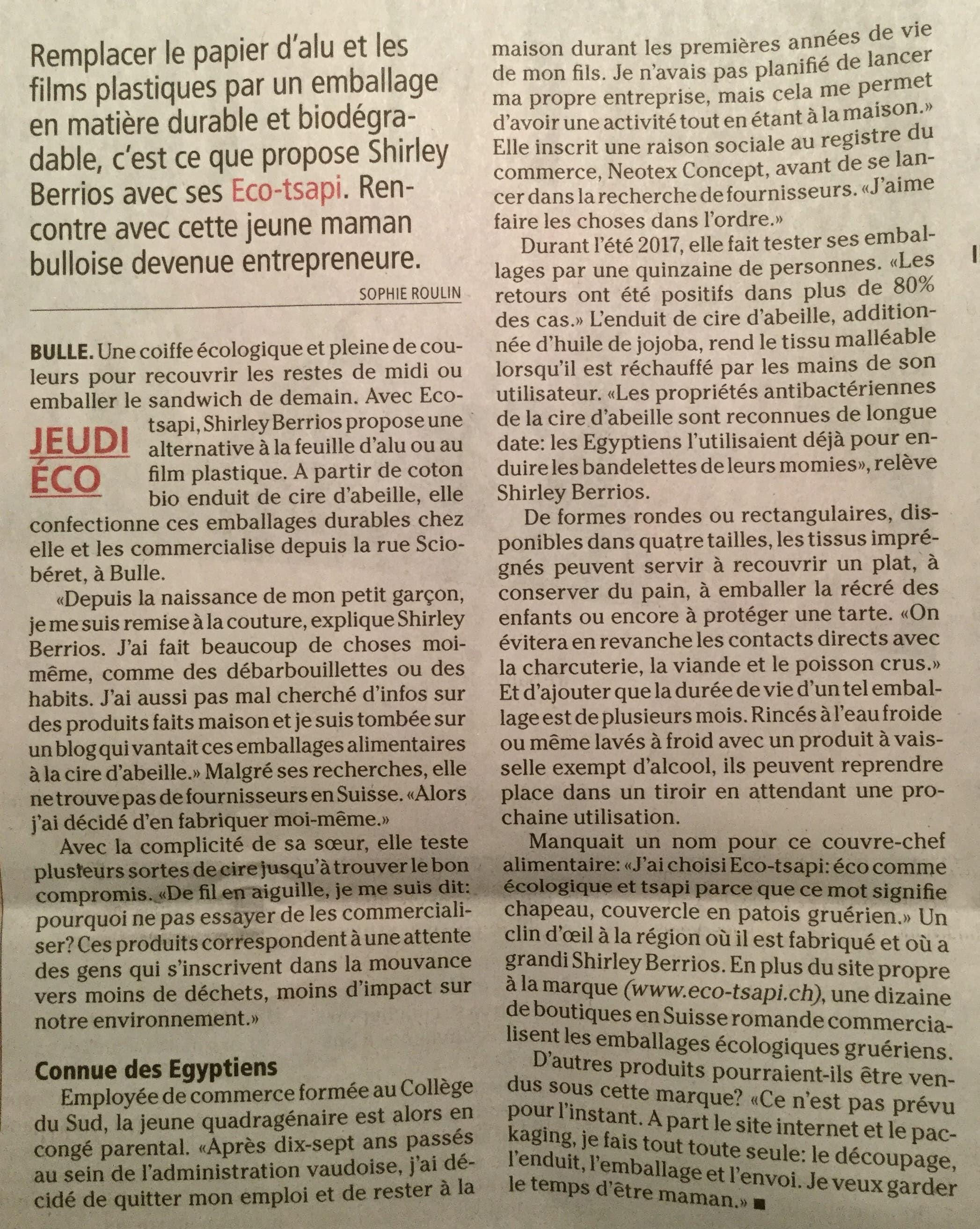 La Gruyère article eco-tsapi 06022018