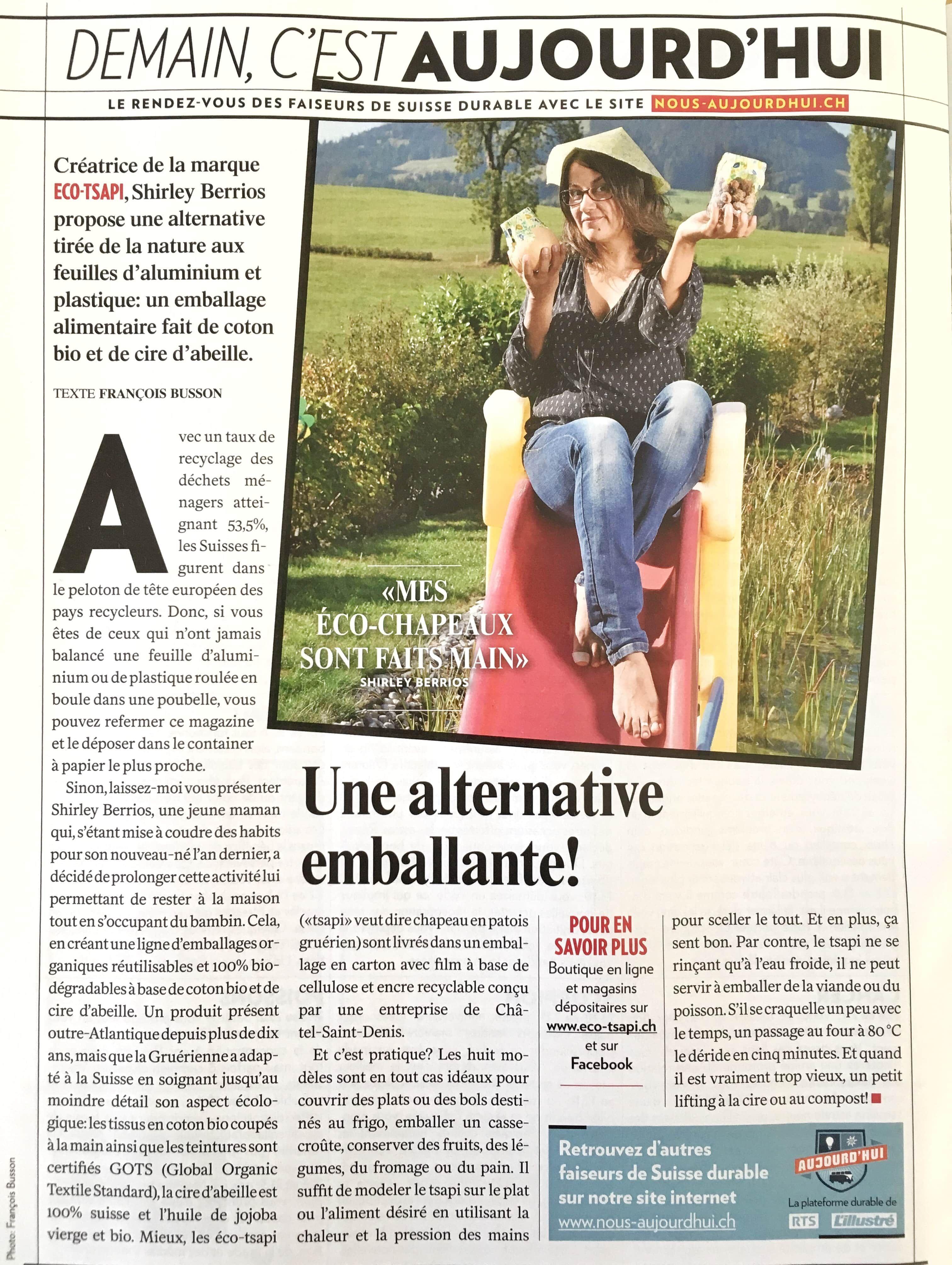 eco-tsapi L'Illustré Demain c'est aujourd'hui | www.nous-aujourd'hui.ch